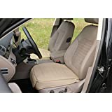EDEALYN Universal PU Leather Soft Car Seat Cover Pad Mat For Office chair Car seat cushion covers for VW Golf Audi A4 -Toyota Corolla Camry Rav4-Honda Pilot Odyssey Accord CR-V Civic ,1PC (Beige)