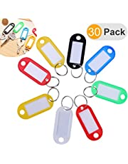 NUOLUX 30pcs Etiqueta llave plástica multicolora con la ventana de la etiqueta (color al azar)