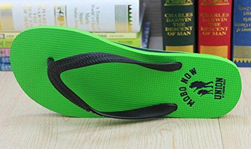 Sfnld Mens Classic Comfy Thong Summer Beach Flat Sandals Flip Flops Green 2k2ko