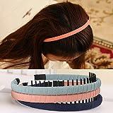 Set of 8 Headband Hair Band Hairband Headbands with Teeth Waves, Wine