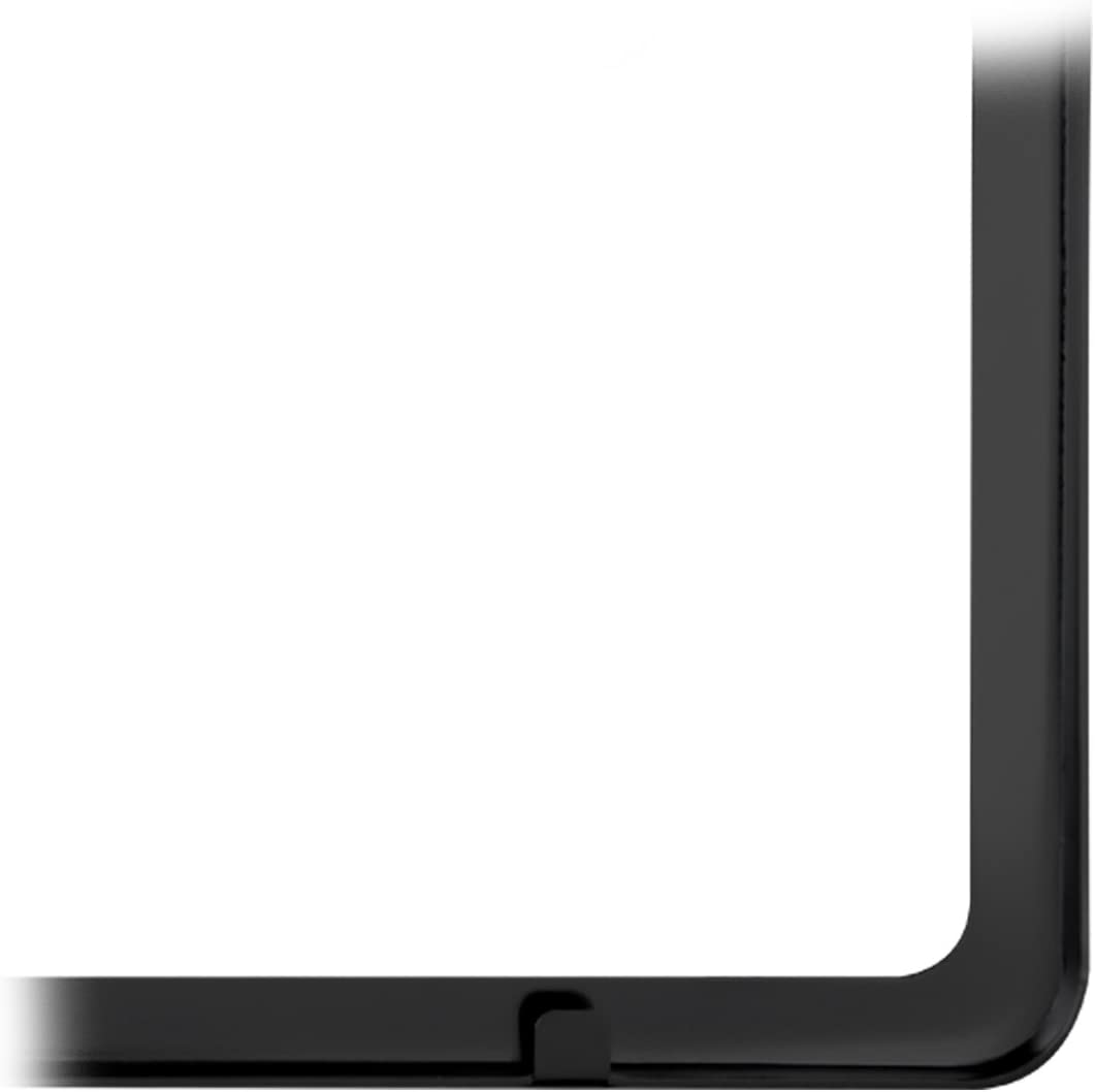 Grand General 60402 Matte Black Powder Coated License Plate Frame with 2 Holes