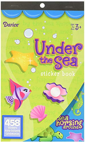 - Darice Underwater Adventure Sticker Books for Kids - 4 books 1870 stickers