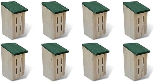 vidaXL 8X Casas para Mariposas Madera 14x15x22 cm Jaulas Mascotas Casa Jardín: Amazon.es: Productos para mascotas