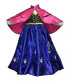 Princess ANNA Dress Costume with Princess Anna Cape Cloak