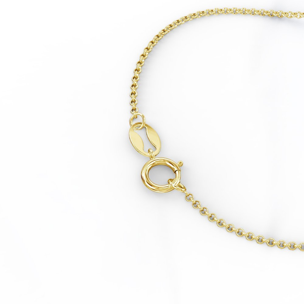 10K Gold Unicorn Horn Necklace with Personalized Birthstone by JEWLR