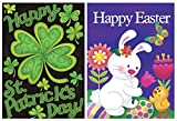 #1: St. Patrick's Day and Easter Day Garden Flags Clovers Irish Green, Egg and Rabbit Seasonal Garden Flags, Yard Decorations Home Decor Flag 12