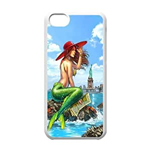 Iphone 5C Little mermaid Phone Back Case Art Print Design Hard Shell Protection FG083175
