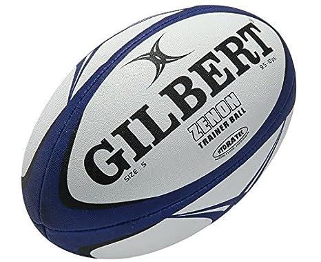 Gilbert - Balón Zenon de Rugby para Entrenamiento - Tamaño 4, Azul ...