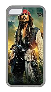iPhone 5C Case, 5C Case - Protective Flexible Clear Rubber Case Cover for iPhone 5C Pirates Of The Caribbean 2017 Poster Ultra Thin Crystal Clear Soft Rubber Case Bumper for iPhone 5C