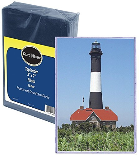Postcard & Photo Protective Sleeve Toploader - 5'' x 7'' - Pack of 25