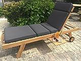 Luxury Cushion for Garden Sun Lounger (Dove Grey)