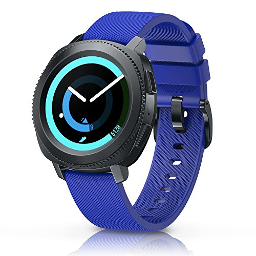ANCOOL Compatible Gear Sport Band Replacement 20mm Silicone Watch Band Compatible Samsung Gear Sport/Galaxy Watch (42mm)/Ticwatch E/Ticwatch 2/Vivoactive 3 Watch - Small Royal Blue