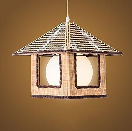 Bamboo ceiling pendant light single e27 light source round glass bamboo ceiling pendant light single e27 light source round glass shade small bamboo woven art aloadofball Choice Image