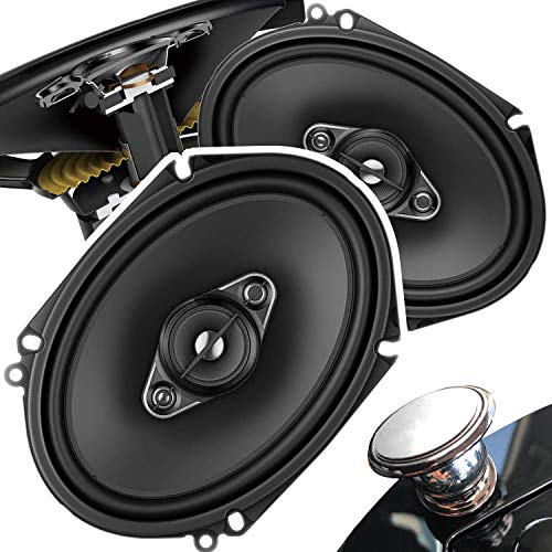 Pair of Pioneer 5x7/ 6x8 Inch 4-Way 350 Watt Car Audio Speakers | TS-A6880F (2 Speakers) + Free Gravity Mobile Bracket Holder