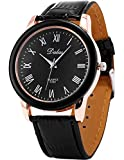 AMPM24 Black Rose Gold Bezel Roman Analog Leather Men Sport Quartz Watch Gift WAA451