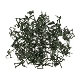 Homyl 120pcs Plastic Army Playset 4cm WWII Army Soldiers Action Figure Model Toy for Kids Adults - Army Green