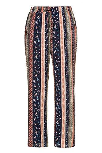 Graphique Popken Fluide Ulla Imprimé Tailles 716236 Pantalon Grandes Femme Multicolore Rose RnBqn10
