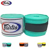 Fairtex HW2 Handwraps New Color Full-Length Elastic 100% Cotton - Length about 180 Inches (Mint Green)