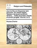 Joannis Meursii Elegantiæ Latini Sermonis, Seu Aloisia Sigæa Toletana, de Arcanis Amoris and Veneris, Editio Accuratior, Mendis Innumeris Purgata V, Nicolas Chorier, 1140748904