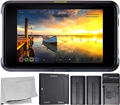 Atomos Shogun 7 HDR Pro Monitor/Recorder/Switcher(#ATOMSHG701) with 500GB AtomX SSDmini Card and Starter Kit (Final Cut Pro 7 Studio 3 Hd)