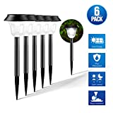 Solar Garden Lights Solar Pathway Lights Solar Lights Outdoor, Set of 6 Solar Lights, Auto ON/OFF Operation and Waterproof, Suits for Garden/Pathway/Walkway/Yard/Lawn/Patio