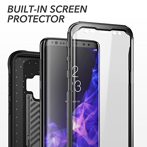 YOUMAKER Galaxy S9 Case, Heavy Duty Protection Kickstand with Built-in Screen Protector Shockproof Case Cover for Samsung Galaxy S9 5.8 inch (2018 Release) - Black by YOUMAKER (Image #6)