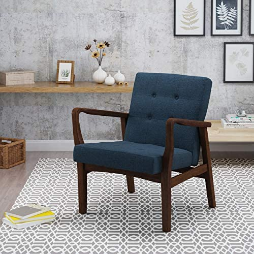 Christopher Knight Home Brayden Fabric Club Chair, Navy Blue