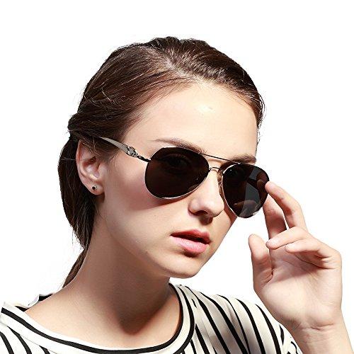 de de Sol Sol Gafas polarizadas ZX de Gafas para de conducción Sol de para Marca 2 Adultos clásico diseño Retro Mujeres Espejo Gafas de Nuevo nYEY6wqO