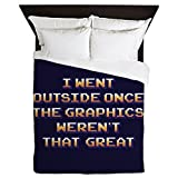 CafePress - The Graphics Weren't Great - Queen Duvet Cover, Printed Comforter Cover, Unique Bedding, Microfiber