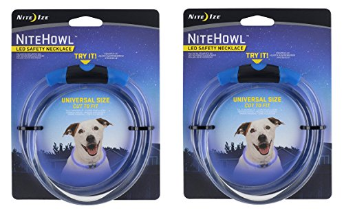 Nite Ize Safety necklace Collar Color:Blue Pack of 2