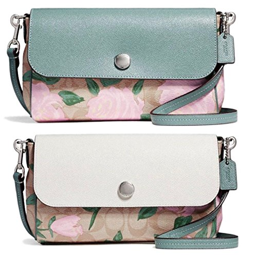 COACH F28188 REVERSIBLE CROSSBODY WITH CAMO ROSE FLORAL PRINT - Coach Handbags Camouflage