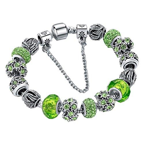 Beautiful Charm Women Fashion Popula Crystal Bracelets, Green (Homemade Baby Butterfly Costume)