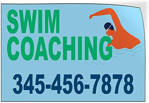 Custom Door Decals Vinyl Stickers Multiple Sizes Swim Coaching Phone Number Blue Business Swim Outdoor Luggage /& Bumper Stickers for Cars Blue 54X36Inches Set of 2