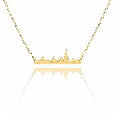 Amazon.com: Art Attack goldtone Ciudad de Nueva York ...