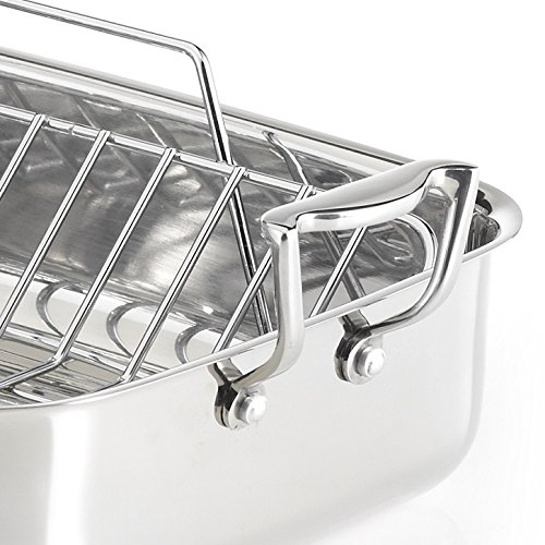 Lagostina 18/10 Stainless Steel Roasting Pan with Rack