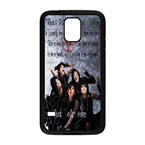Custom High Quality WUCHAOGUI Phone case BVB - Black Veil Brides Music Band Protective Case For Samsung Galaxy S5 - Case-9