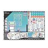 me & my BIG ideas The Happy Planner Box Kit - Sweat Smile Repeat Theme - 12 Month Undated - Vertical Layout - 5 Sheets of Stickers, 1 Pen, 1 Magnetic Bookmark, 4 Sticky Note Pads - Classic Size