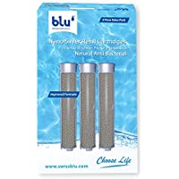 blu Nano Silver Refill Cartridges for Ionic Shower Filter Handheld 3 Piece Value Pack