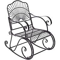Lírica mecedora, silla de relajación, doblando las barandillas