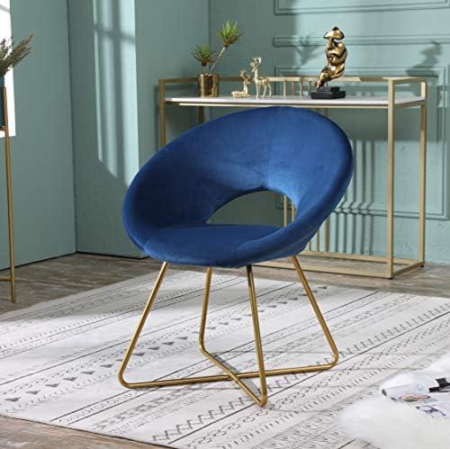 Roundhill Furniture Slatina Silky Velvet Upholstered Accent Chair