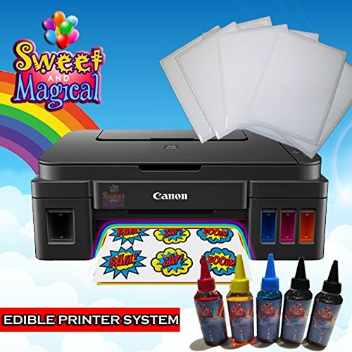 MEGA TANK EDIBLE Bundle for Canon - Comes with Edible Ink Bottles & Frosting Sheets