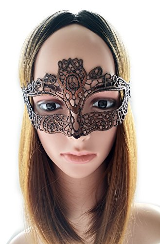 [Coolwife Women's Sexy Lace Masquerade Masks For Nightclub Dance Fancy Ball Halloween (Gold)] (Soft And Sexy Mask)