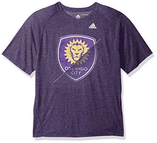 fan products of MLS Orlando City FC Adult Men Striker Climalite S/Tee, X-Large, Regal Purple