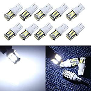 grandview 350 lumens white t10 194 168 921 w5w 7014 10 smd led interior lights bulb. Black Bedroom Furniture Sets. Home Design Ideas