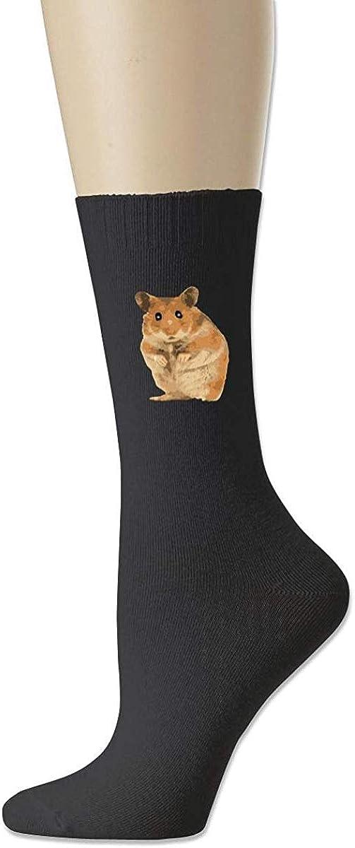 xinfub Frauen-hoher Kn/öchel-Baumwollmannschafts-Socken-Hamster-Muster-beil/äufiger Sport-Strumpf Comfortable10191