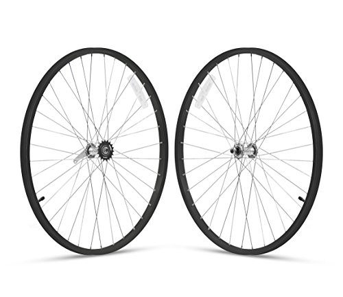 Firmstrong 1-Speed Beach Cruiser Bicycle Wheelset, Front/Rear, Black, 26