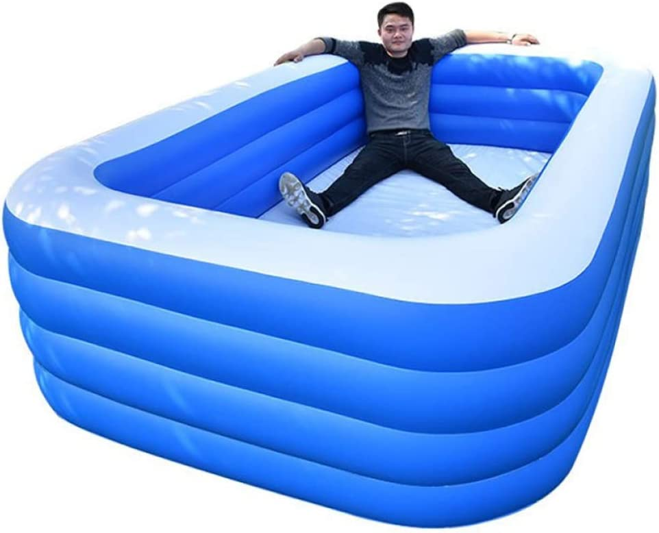 YIRUN Piscina Hinchable Rectangular Piscina Hinchable para NiñOs Cuadrado Piscina De PVC Altura Regulable Gruesa Y Duradera,318x180x68cm/10.43x5.9x2.23ft: Amazon.es: Hogar