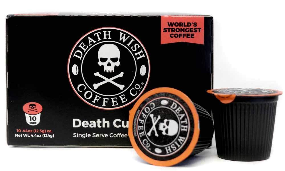 Death Wish Coffee Single Serve Capsules for Keurig K-Cup Brewers, 10 Count,0.44 oz