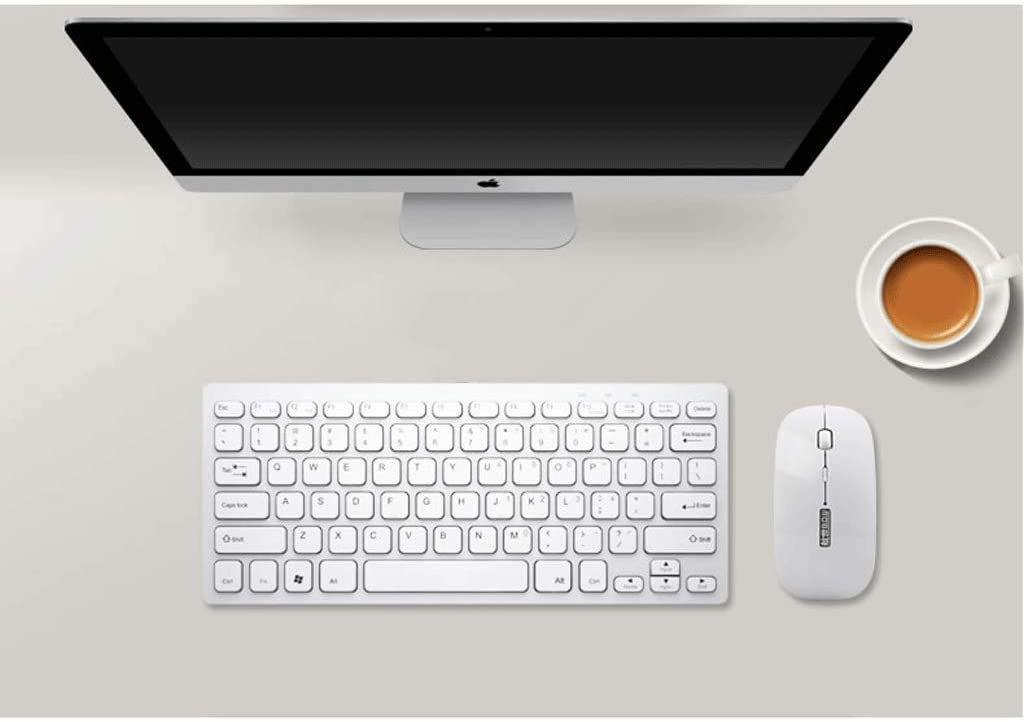 Chocolate Keyboard Wireless Computer Laptop Nano Receiver Home Office Apple Keyboard Mouse Set Silent Mini Color : Ivory White 78-Key Version