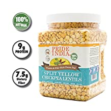 Pride Of India - Beans, Peas & Lentils (Indian Split Yellow Chickpea Lentils, 1.5 Pound Jar)